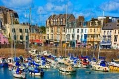 Ilfracombe Harbour, cartoon style