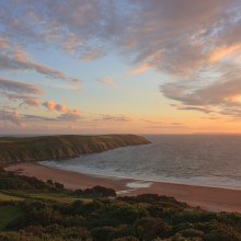 Evening Sky over Putsborough and Baggy Point.