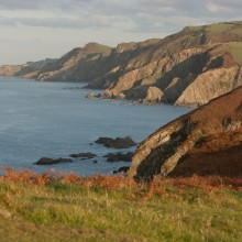 View towards Lee and Ilfracombe from Bull Point. October 2011.