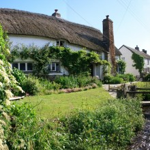 Thatched cottage in Croyde on the Georgeham Road