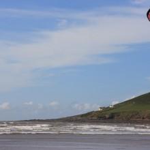 Kite Surfing on Saunton Sands