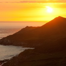 Sunset over Morte Point in July