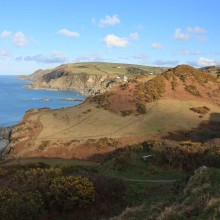 View towards Lee and Ilfracombe March 2013