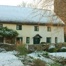 Henry Williamson's house, Georgeham, in the snow. March 2013.