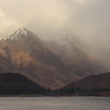 Two of the Five Sisters from Loch Duich. April 2013