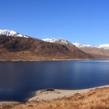 Loch Cluanie looking west. April 2013.