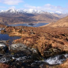 The South Glen Shiel Ridge from above Loch Cluanie. April 2013