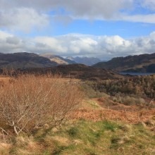 Distant View of the Five Sisters of Kintail from the north and west. 21 April 2013