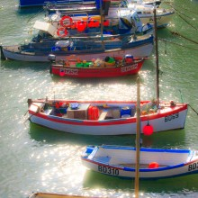 Boats in Clovelly Harbour