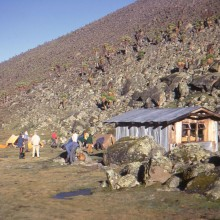 Mt Kenya: Klarwills Hut in the Teleki Valley, December 1971
