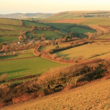 February: View from Saunton Down over Forda towards Woolacombe in the Distance.