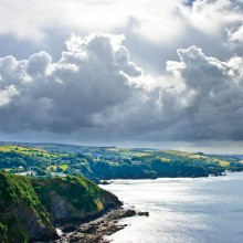 May: Storm Clouds over Combe Martin