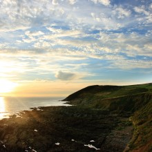 June: Baggy Point and Lundy Island from Croyde