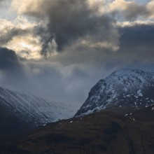 Ben Nevis and Carn Mor Dearg from Banavie on the A830. May 2015.