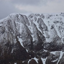 Ridge between Stob Ban and Mullach nan Coirean in the Mamores south of Glen Nevis. March 2015.