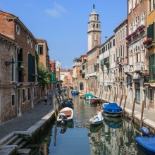 Typical Venice canal scene