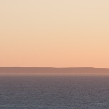 Lundy Island from Mort Point. April 2015.