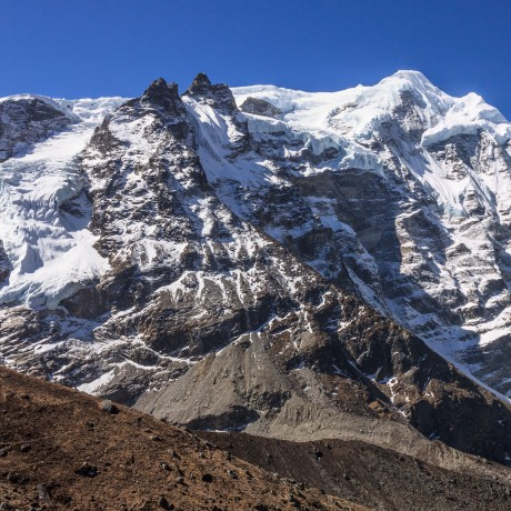 Mera Peak and the village of Khare