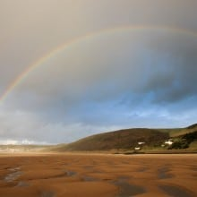 March: Rainbow over Putsborough and Woolacombe Beach