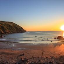 June: Putsborough Beach at sunset