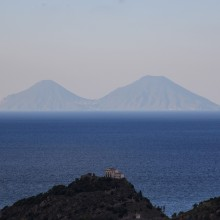 Aeolian Islands from Capo d'Orlando
