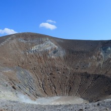 The summit crater of Volcano (Aeolian Islands)