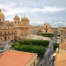 View from the roof of Chiesa di San Carlo al Corso in Noto