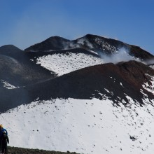 One of the summit crtaers on Mt Etna